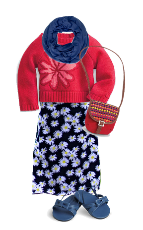 Flower Sweater Outfit 1