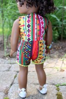Tropical Aztec Romper- $20
