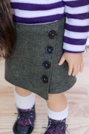 Asymmetrical Tweed Wrap Skirt- $14