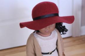Brick Red Floppy Hat- $25
