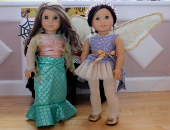 Clarisse as a mermaid and Meryl as a fairy