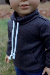 Cowl-neck Sweatshirt- $19
