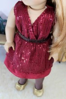 Sparkle and Suede Dress- $26