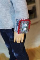 Embellished Sleeve Pullover- $22